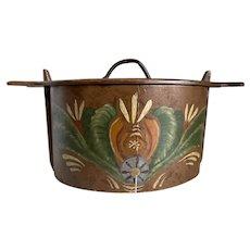 Swedish Bentwood Handcrafted Tina Box Folk Art Signed 1933