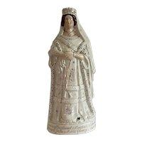 Staffordshire Antique Porcelain Statue of Queen Victoria Empress of India c1887