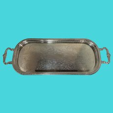 Sheridan Silverplate Pierced Footed Gallery Serving Tray
