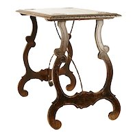 Baroque side table with lyre legs, early nineteenth century