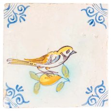 Polychrome tile, Earthenware Netherlands - Early 17th century