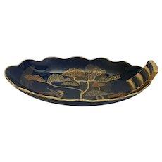 CARLTON WARE Oval Scalloped Porcelain Tray #1608-3