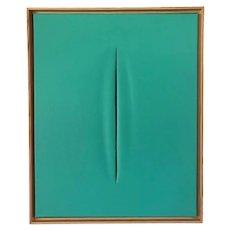 Tiffany Blue Slice Modern Art Painting by Tony Curry