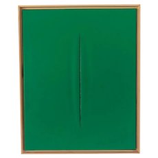 Green Slice Modern Painting by Tony Curry