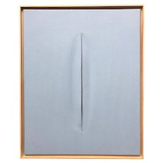 Light Blue Slice Modern Art Painting by Tony Curry