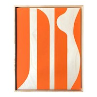 """Hermès Orange"" Original Modern Painting by Tony Curry"