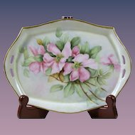 C T Tielsch Hand Painted Jewelry Tray