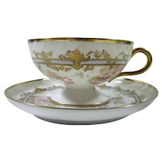 French Haviland Cup and Saucer For Bailey Banks & Biddle Com.