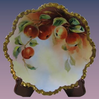 Stunning D'arcys Hand Painted Rosethal Plate, Signed, Apples