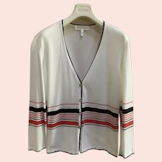 Vintage red, white, & blue Escada button down sweater size 38