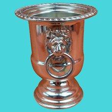 Vintage Sterling Silver Hallmarked Urn Pot Lion Ring 1967 E H Parkin & Co
