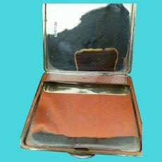 Antique Sterling Silver Hallmarked Unusual Cigarette Case 1946 Bishton's Ltd