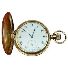 A.W.C CO Empress Canada Case Swiss Full Hunter Pocket Watch Gold P. C1890