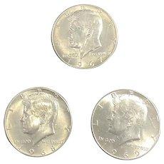 Kennedy half dollars (3)