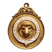 British Gilt Freemasons Medallion