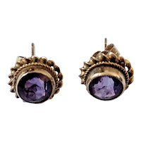 9ct gold Amethyst stud earrings