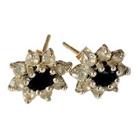 9ct Gold cluster Stud Earrings