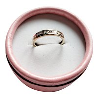 9ct and Diamond half eternity ring