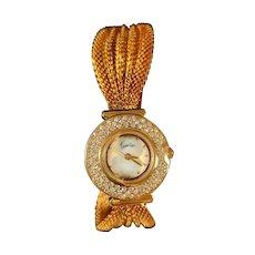Ladies gold plated ltd edition Travilla watch