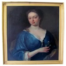 18th century antique portrait of an aristocratic lady circle of William Aikman