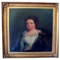Portrait of a lady, Priscilla Osborn, William Jacob Baer