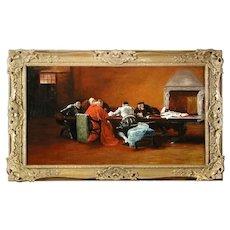 portrait cardinal interior scene by Edgar Bundy