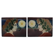 Art Nouveau floral pair of planters - 1890-1919 - Johann von Schwarz - Carl Sigmund luber