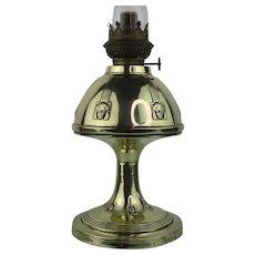 Art Nouveau lady face brass oil lamp - 1890-1919 - Kosmos Brenner