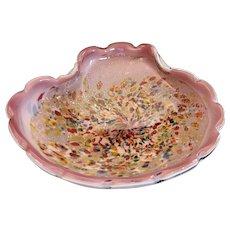 Mid Century Murano 'Confetti Glass' Bowl - Unsigned - Italy - Mid 20th Century