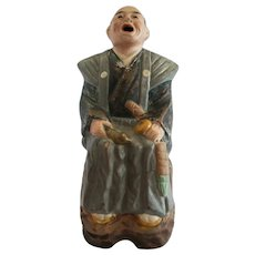 Taoist Yixing Zisha Clay 'Scholar' Figure - Cold Painted - China - 20th Century