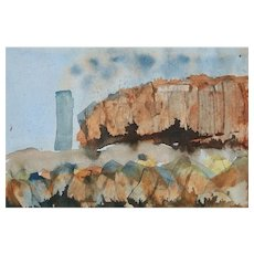 Canadian School Landscape W/C Painting on Paper - Framed - Unsigned - Circa 1980's