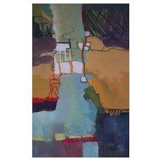 CAROL FRYE - Contemporary Abstract Mixed Media Painting - U.S.A. - Circa 2010