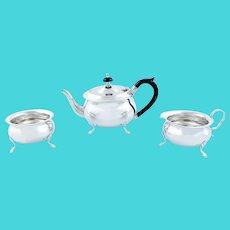 Antique 1920's Art Deco silver plated bachelor coffee tea set
