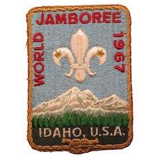 Boy Scout 1967 World Jamboree Pocket Patch Idaho, U.S.A.