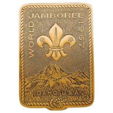 Boy Scout 1967 World Jamboree Leather Jacket Patch Idaho, U.S.A.