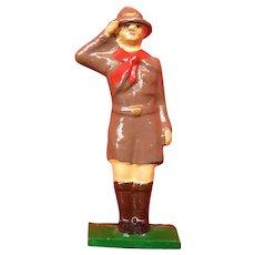 Cast Iron Boy Scout Toy Figure Nice Paint