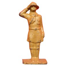 Cast Iron Boy Scout Toy Figure All Tan