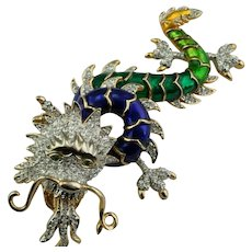 Butler and Wilson Chinese Dragon Brooch