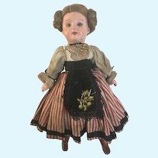 "SFBJ Paris  Papier Mache  head  doll 8"""