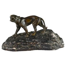1920's French Art Deco spelter figure of a Tiger