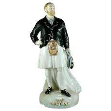 Large antique 19th-century Paris porcelain figure of Edward VII Prince of Wales
