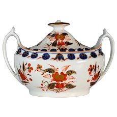 Antique Georgian circa 1820 Spode porcelain Imari Japan pattern 1432 Sucrier sugar bowl