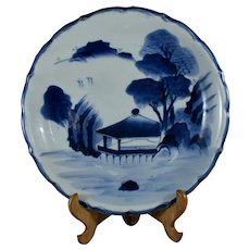 Antique signed 19th-century Japanese Arita Seisu porcelain charger  plate Meiji period