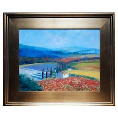 """""""Tuscan Landscape"""" Oil Painting"""