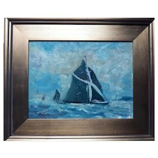 """""""Spritsail Barge"""" Oil Painting"""