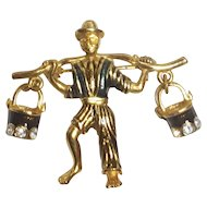 Water Carrier Figural Pin