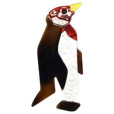 Penguin Pin  in Lea Stein Style