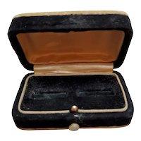 Antique Velvet Double Ring Jeweler's Box