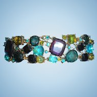 Multi-Colored Rhinestone Bracelet