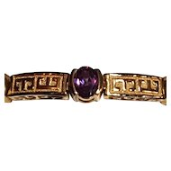 Gold Vermeil Sterling & Color Changing Stone Bracelet